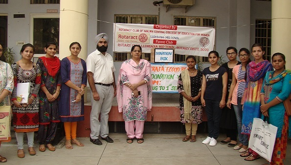 Rotaract Club of Malwa Central College of Education for Women, Ludhiana came up with an initiative to help the Kerala flood affected people by organizing Kerala Flood Relief Donation Week