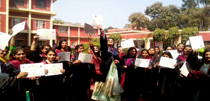 Students in cheerful mood on Annual Convocation 2019